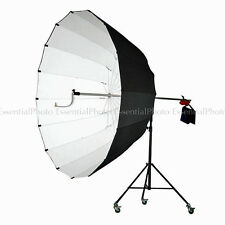 180cm Jumbo Parabolic White Interior Reflector Studio Umbrella Stand + Wheels
