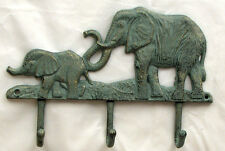 ADORABLE ELEPHANT WITH HER CALF HOOK Coat Key Hat Wall Hanger Home Decor New