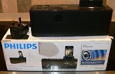 Philips iPhone/iPod Docking Speaker.AD340.orig box and power supply.great sound