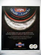 PUBLICITE-ADVERTISING :  LANQUETOT Moulé à la Louche  2015 Fromage,Camembert