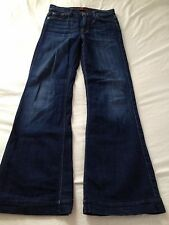 7 for all Mankind Women's High Rise Ginger Blue Flare Jeans Size 27 Inseam 30
