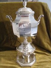 Large french silverplate samovar hot water fountain Christofle Gallia Gadroons