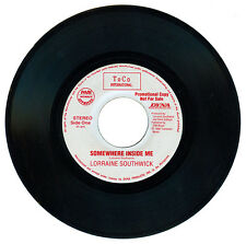 Philippines LORRAINE SOUTHWICK Somewhere Inside Me 45 rpm PROMO Record