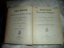 """Wörterbuch """"DIZIONARIO - Italiano-Tedesco"""" von 1891"""