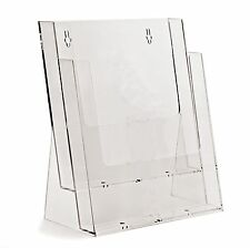 A4 2 BAY / TIER LEAFLET HOLDER DISPENSER SHOP DISPLAY STAND - BPS2C230