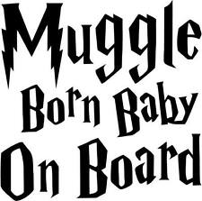BABY MUGGLE STICKER Harry Potter  Car Van Window Bumper Vinyl Decal Graphic