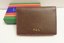 NWT With Box Ralph Lauren Romilly Flap Coin Case Aruba Pink