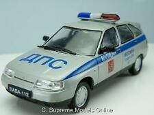 LADA 112 POLICE CAR 1/43RD SCALE RUSSIAN LEGENDS PACKAGED ISSUE PKD K8967Q~#~