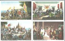 c1920 Lot of 9 Paintings at The US Capitol Rotunda Washington DC Art Postcards