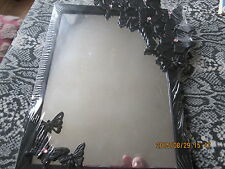 BLACK BATHROOM MIRROR WITH BUTTERFLY DETAIL TAKE A LOOK