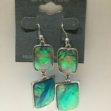 Costume Jewelry Earrings Drop Pierced Funky Unique Color Square Dangle