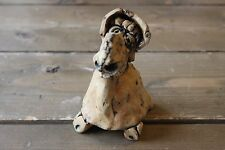 Vintage Outsider Art Turtle Clay Sculpture 5 inch tall