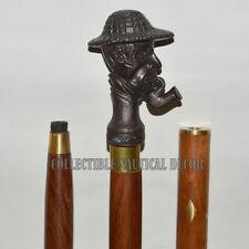 Smoking Men Aluminum Walking Handle Stick Cane Designer Brass Vintage Nautical