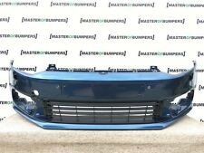 VW POLO 6C 2014-2016 FRONT BUMPER IN BLUE GENUINE [V292]