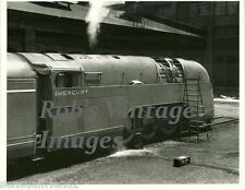 New York Central Steam Train Photo Mercury Being Serviced NYC Railroad  print 2