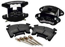 "WILWOOD D154 BRAKE CALIPER & HIGH PERFORMANCE E PAD SET,FRONT,2 PIS,1"",GM METRIC"