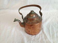 SMALL CHARMING ANTIQUE COPPER KETTLE GOOSENECK SPOUT-LOVELY FOR DISPLAY?