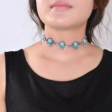 Crystal Charm Jewelry Pendant Women Chain Choker Chunky Statement Bib Necklace
