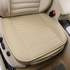 BeigePU Leather Bamboo Charcoal Full Surround Car Seat Cover Protect Cushion Mat