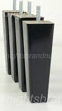4x WOODEN FEET FURNITURE LEGS 200mm FOR SOFAS CHAIRS CABINETS & BEDS M8(8mm)