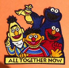 SESAME STREET GANG XL 4X4 INCH ♥ Embroided Sew / Iron on DIY Clothes Patch Badge