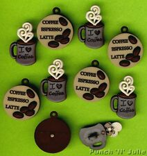 COFFEE TALK - Espresso Mug Cafe Shop Novelty Dress It Up Craft Buttons & Charms