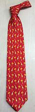 Korea Silk Tie cute giraffe red picture High Quality