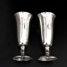 """2 Vtg GORHAM Sterling Silver 951 Liquor Cups Cordial Goblet Shot Glasses 2 3/4"""""""