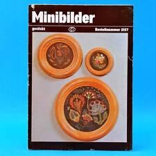 Minibilder   gestickt   Verlag für die Frau # 2157   DDR 1984