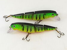 2 x Fladen Eco Double Jointed 10.5cm Floating Rattler Plug Lure 14g Predator
