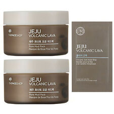[The Face Shop] Jeju Volcanic Lava Pore Mud Pack / 2 Quantity / 1Free Nose strip