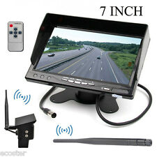 "New Wireless Weatherproof Backup Camera & 7"" Monitor for Bus,Truck, Trailer Van"