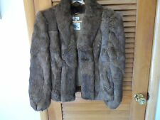 Ladies size Large brown rabbit fur coat from Wilson's suede and leather
