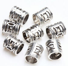 Tibetan Silver Tube Charm Loose Spacer Beads Bracelet Jewelry Making 7x6mm DIY