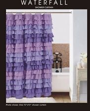 lilac flow  Ruffled Shower Curtain