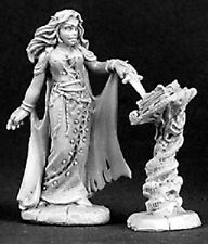 Necromancer with Tome Reaper Miniatures Dark Heaven Legends Mage Wizard Caster
