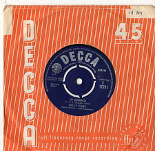 """Billy Fury - In Summer / Never Fall In Love Again 7"""" Single 1963"""