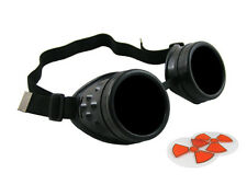 BLACK CYBER GOGGLES STEAMPUNK WELDING GOTH COSPLAY