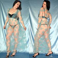 total durchsichtiges TÜLLKLEID* XS-M Chiffon Kleid mit Spitze* Dessous* Negligee
