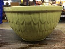 """Vintage Yellow McCoy Pottery Fish Scale Pattern Mixing Bowl 8"""""""