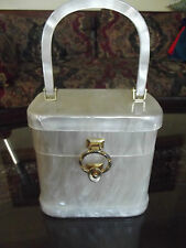 Vintage STYLECRAFT MIAMI Lucite handbag purse Hazel Cannon of Ft. Lauderdale