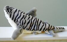Wild Republic TIGER SHARK Plush Stuffed Animal Gray Striped 17""