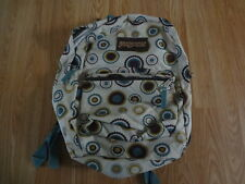JanSport T501 Backpacks - Khaki with Mastard and Brown cirles