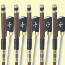 5PCS-4/4 VIOLIN BOW Pernambuco Violin Bow Gold Cross Frog FREE SHIPPING-836#