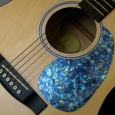 ACOUSTIC Guitar Pick / Scratch Guard Faux Iridescent Blue/Green Abalone USA