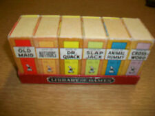Vintage Library of Games by Russell Big Little Card Game Authors Dr. Quack Rummy