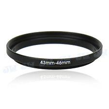 43-46mm Step-Up Metal Adapter Ring / 43mm Lens to 46mm UV CPL Filter Accessory