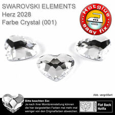 5 elemento de Swarovski HotFix, 2808 corazones, 6 mm, Crystal (pedrería p. coderas)