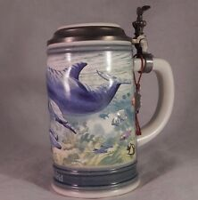 Handcrafted Lidded Stein Sea World 1991 Limited Edition 4482 GERZ