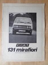 FIAT 131 MIRAFIORI SPORT orig 1980 UK Mkt Road Test Brochure